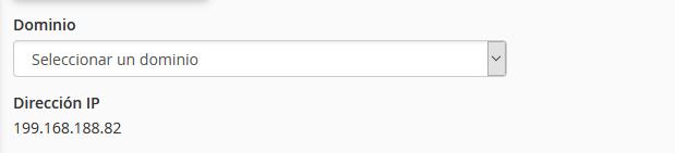 Seleccione el dominio donde va a instalar el Certificado SSL en cPanel