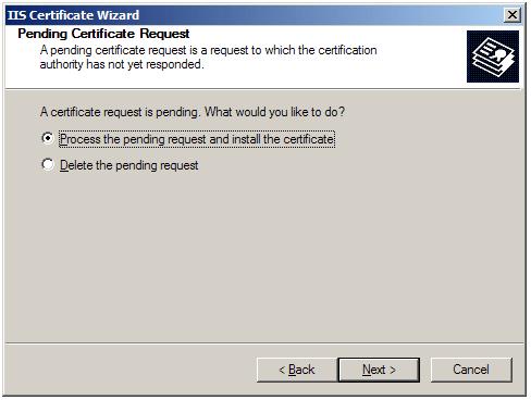 Instalar un certificado SSL/TLS en Microsoft IIS 5 y 6