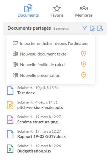 Créer un fichier