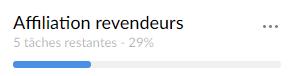 Prozentsatz des Fortschritts auf meinen Listen