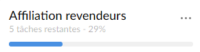 Percentage of progress of my lists