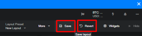 Save or Revert Changes Made to the Layout