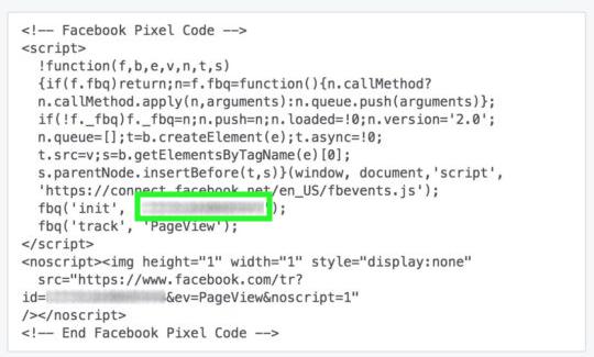 Pour Facebook, vous devez saisir le code présent dans l'encadré vert