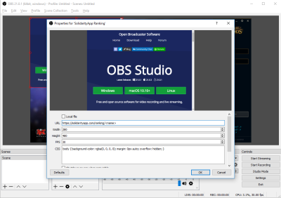 Step 4: Copy your personal Solidarityapp OBS URL