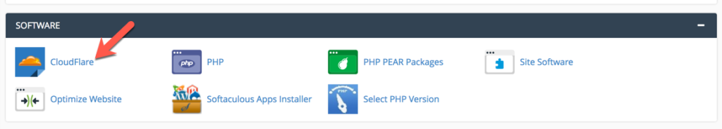 Truy cập CloudFlare trong cPanel