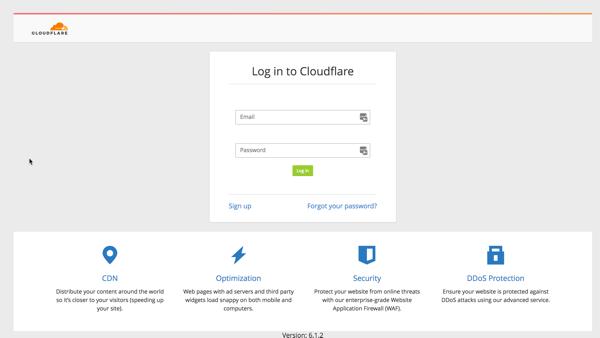Đăng ký tài khoản CloudFlare