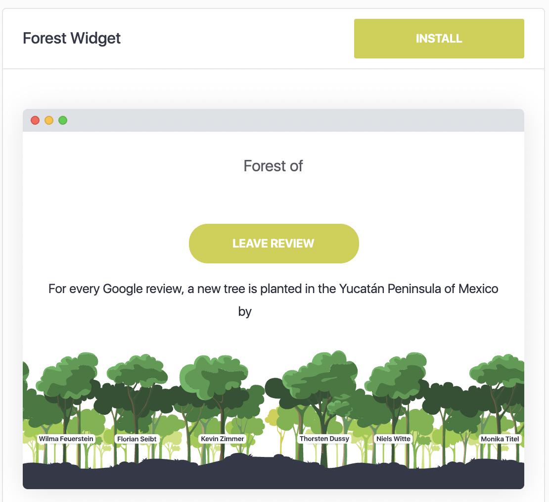 Install Forest Widget