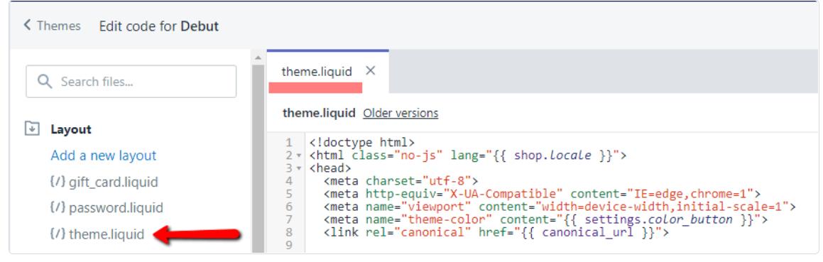 Shopify/theme.liquid