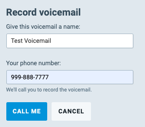 Give your VM a name and Provide Your Phone Number