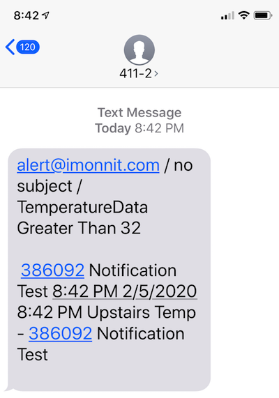 Text Message Received