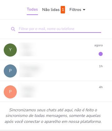 Filtros do chat