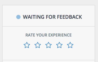 Hágale saber su satisfacción al usuario