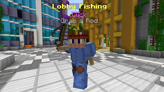 The armour stand where you collect your fishing gear - Go catch 'em all!