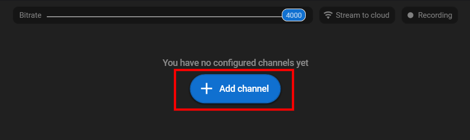 Нажмите добавить канал