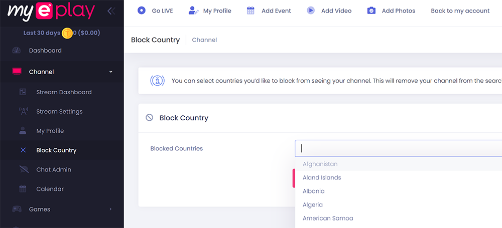 This is the drop down for the countries blocked. Block as many as you need!