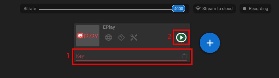 For step 4, paste in your broadcast key!