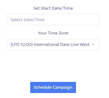 Confirm campaign details