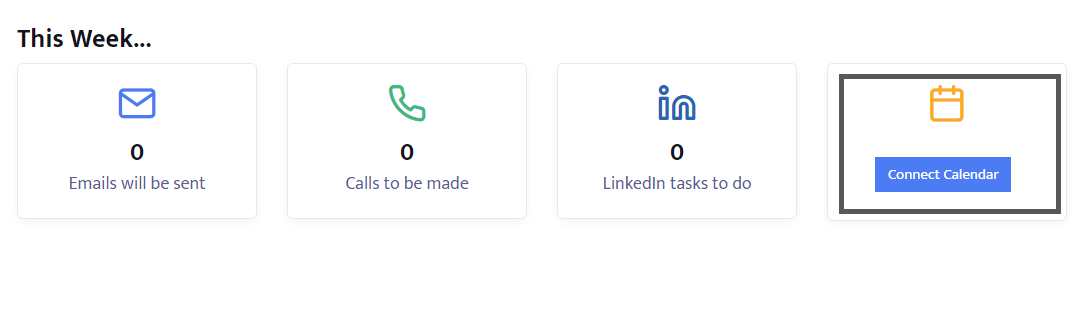 "Click on ""Connect Calendar"""