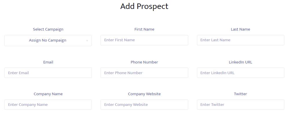 Prospect details