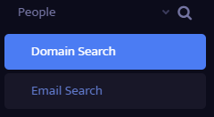 Click on Domain Search