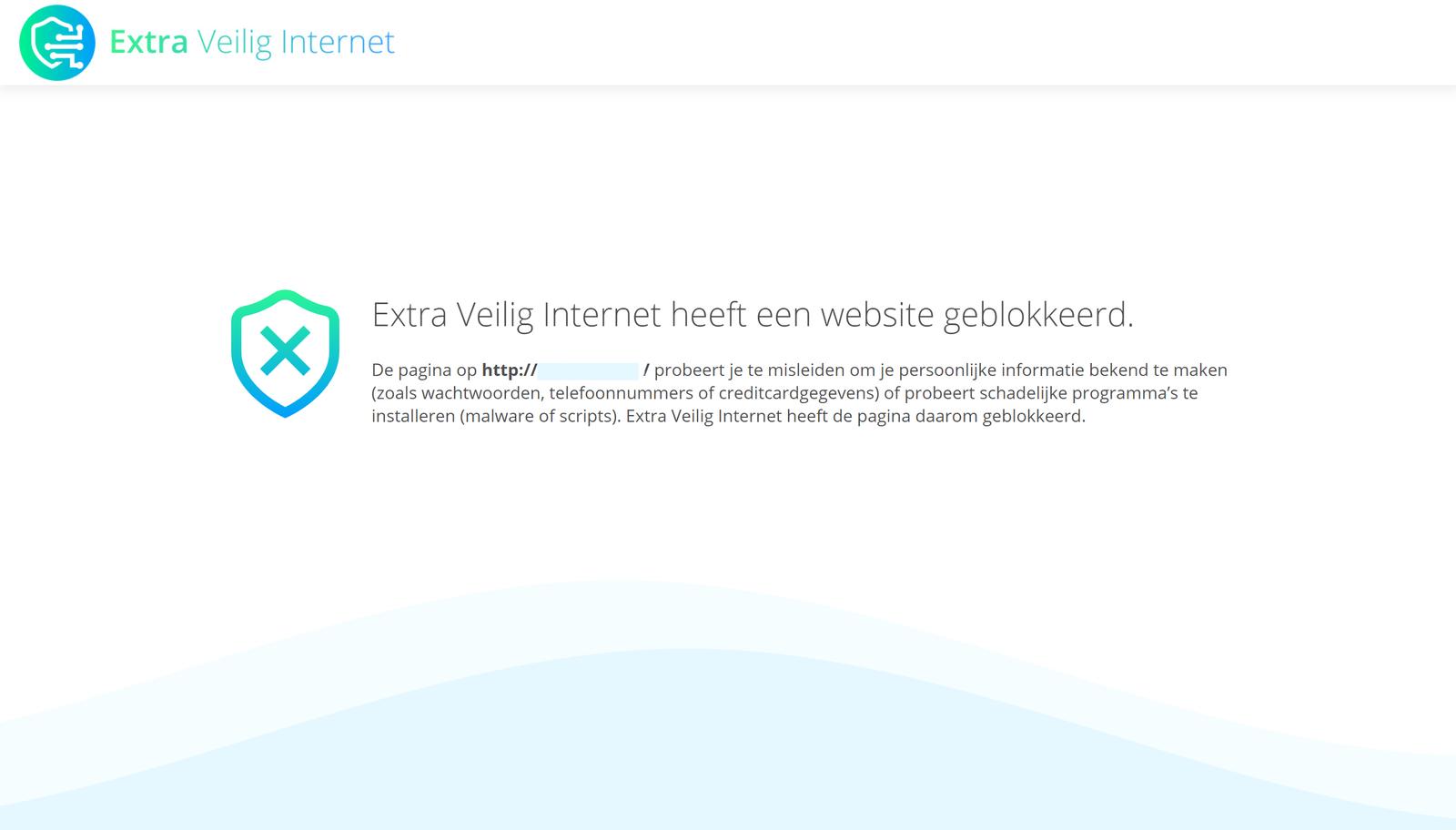 Extra Veilig Internet heeft een website geblokkeerd