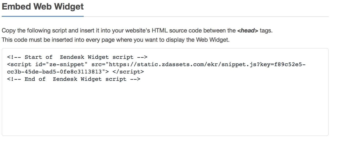 Zendesk Embed Code