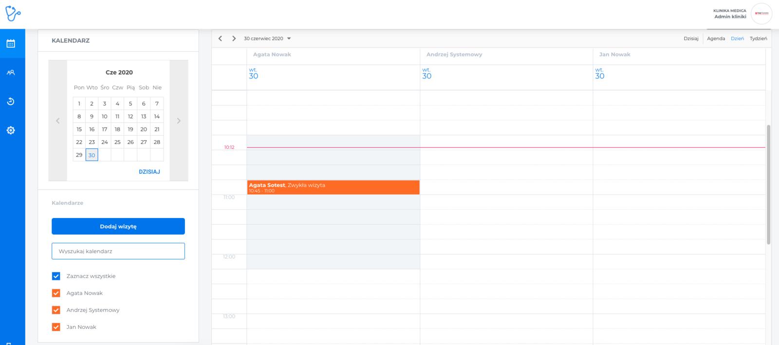 Wolne terminy na kalendarzu