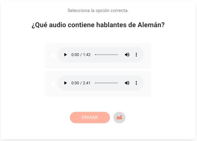 Ejemplo de Audio dentro de una pregunta de opción múltiple