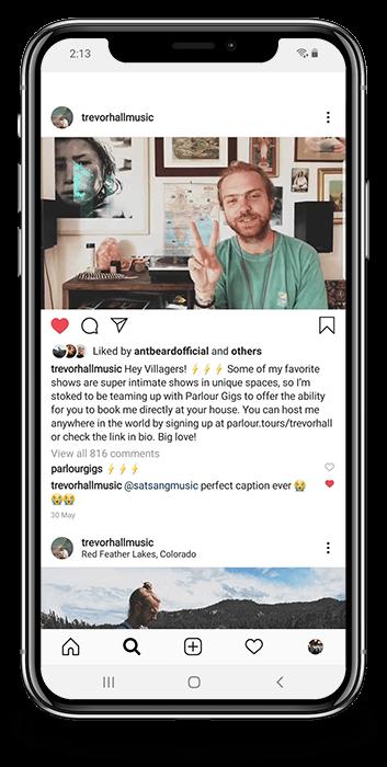 Trevor Hall Instagram Post