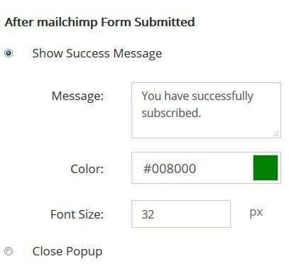 Popup Maker After MailChimp Form Submitted