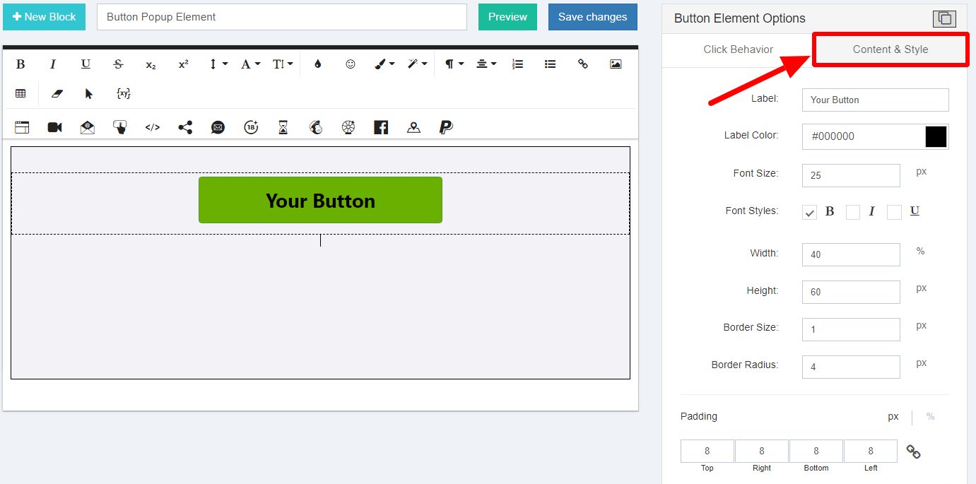 Customize Design Of The Form