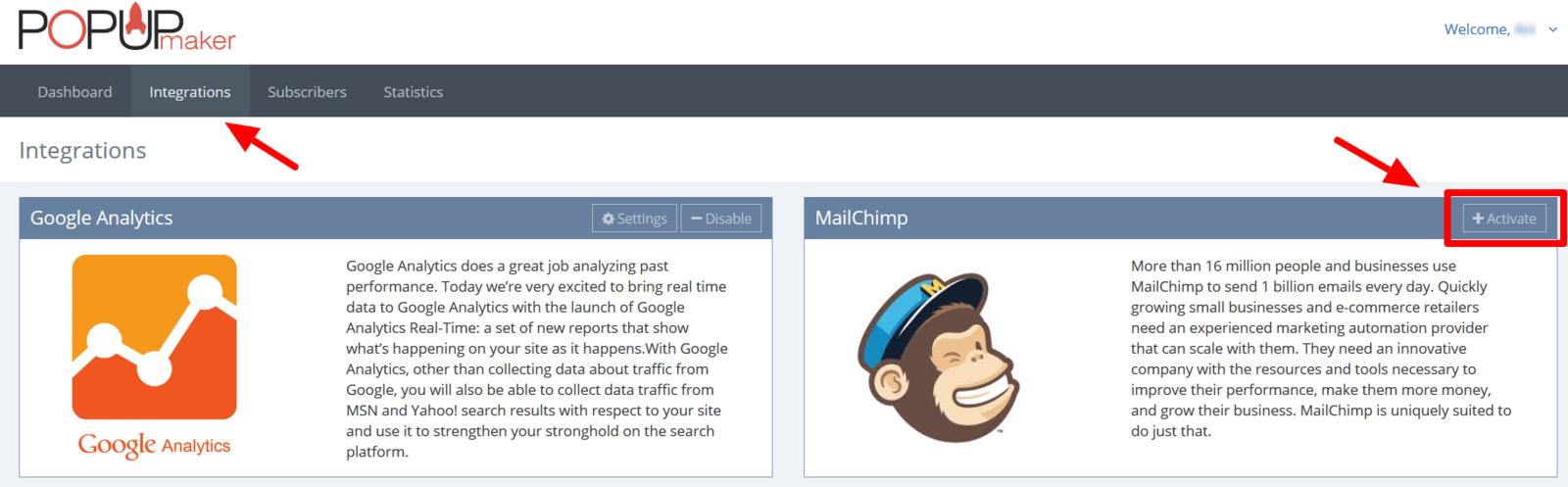 MailChimp Popup Creation
