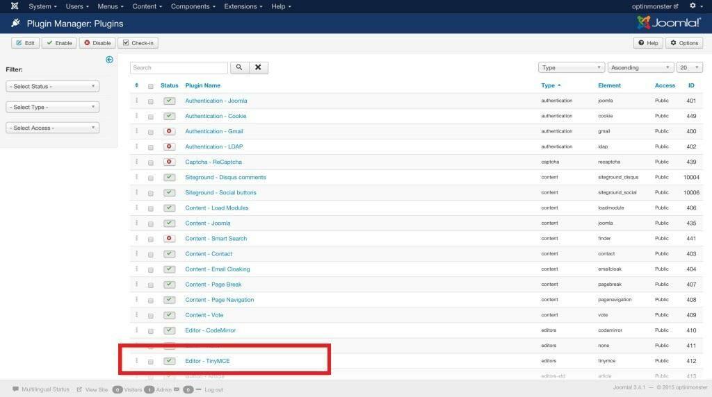 Paste embed code to Joomla website
