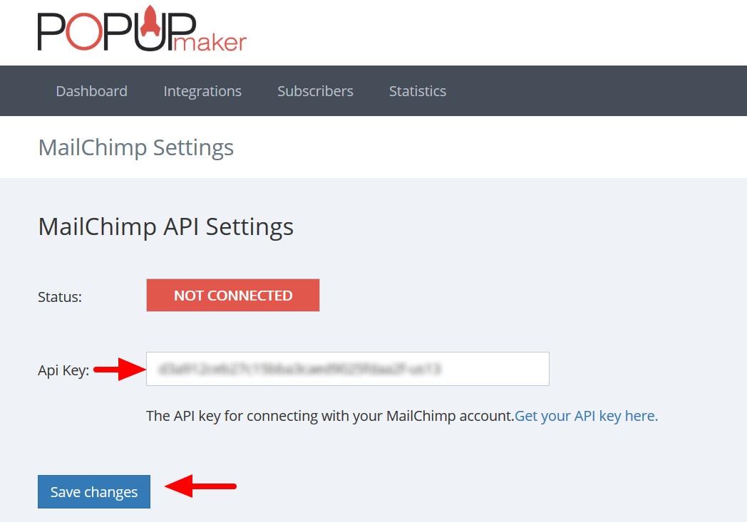 Popup Maker API key