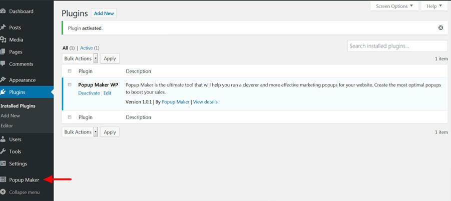 Popup Maker plugin in WordPress