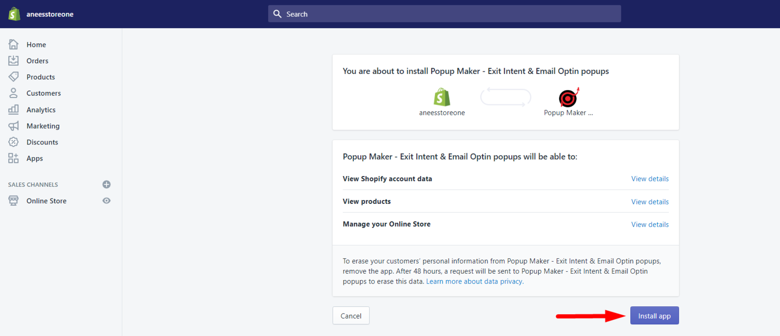 Popup Maker install app