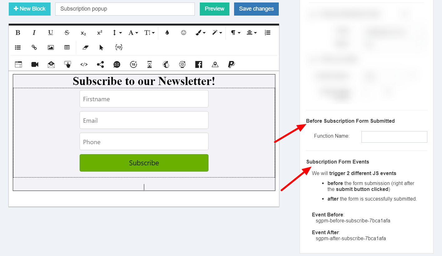 Submission Form Custom Functions Popup Maker