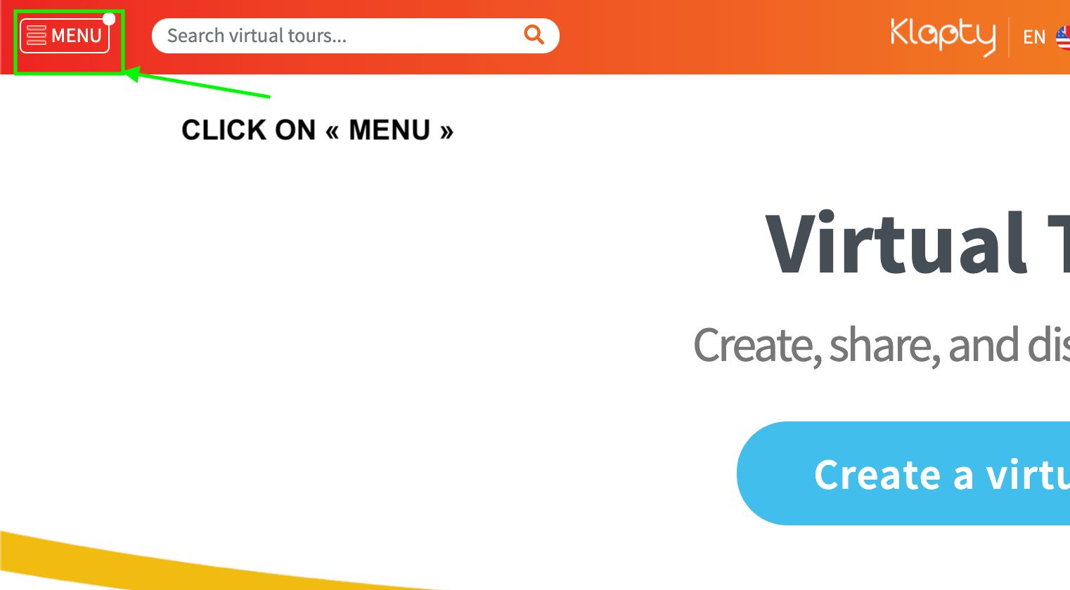 Update/edit or delete a Klapty 360 virtual tour