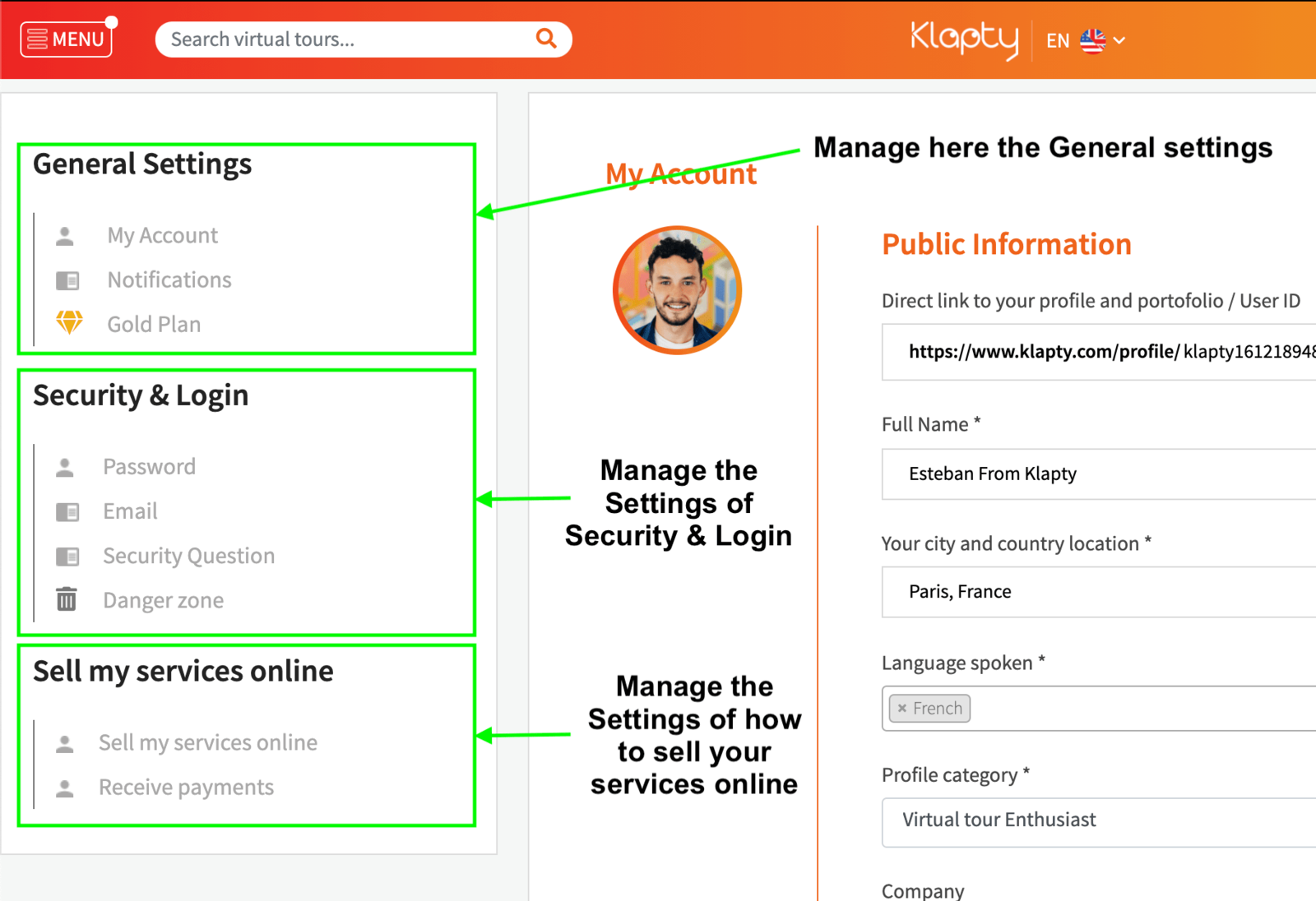 Manage your Account Settings