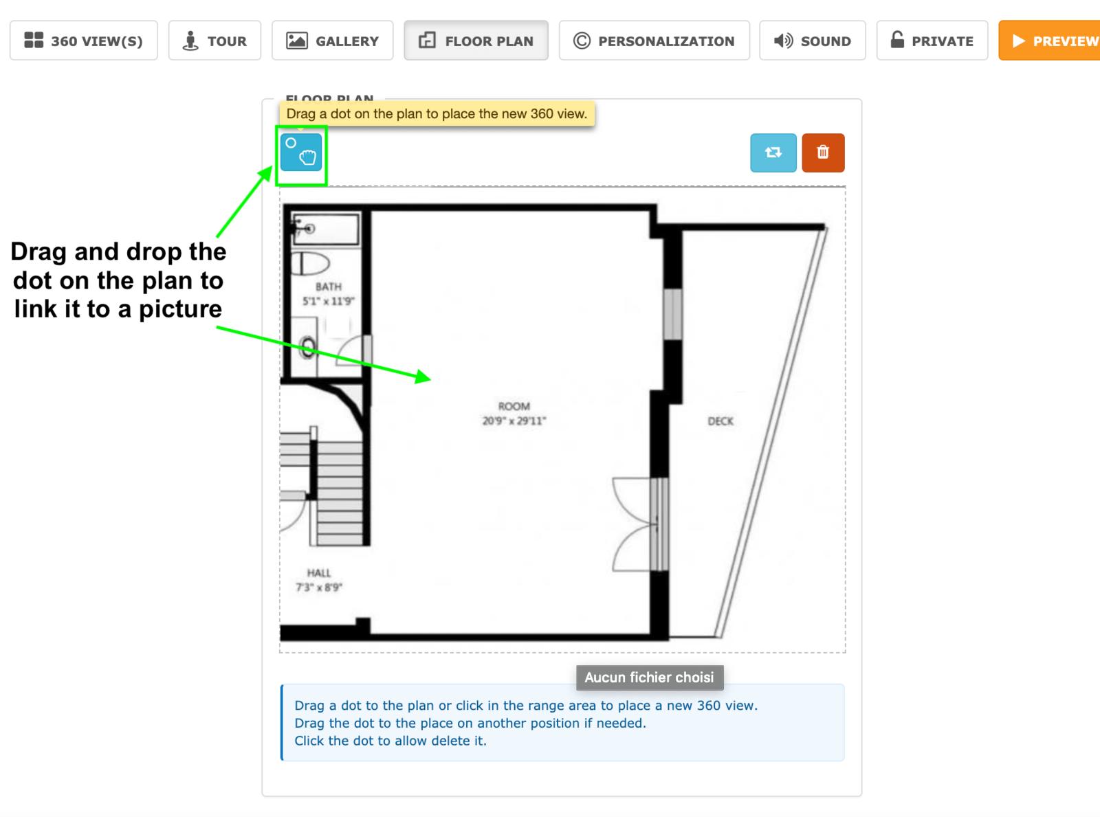 Add a floor plan