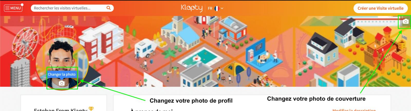 Changer sa photo de profil et sa photo de couverture