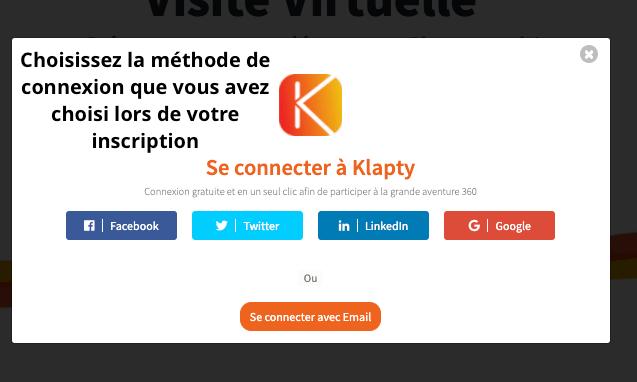 Se connecter sur Klapty
