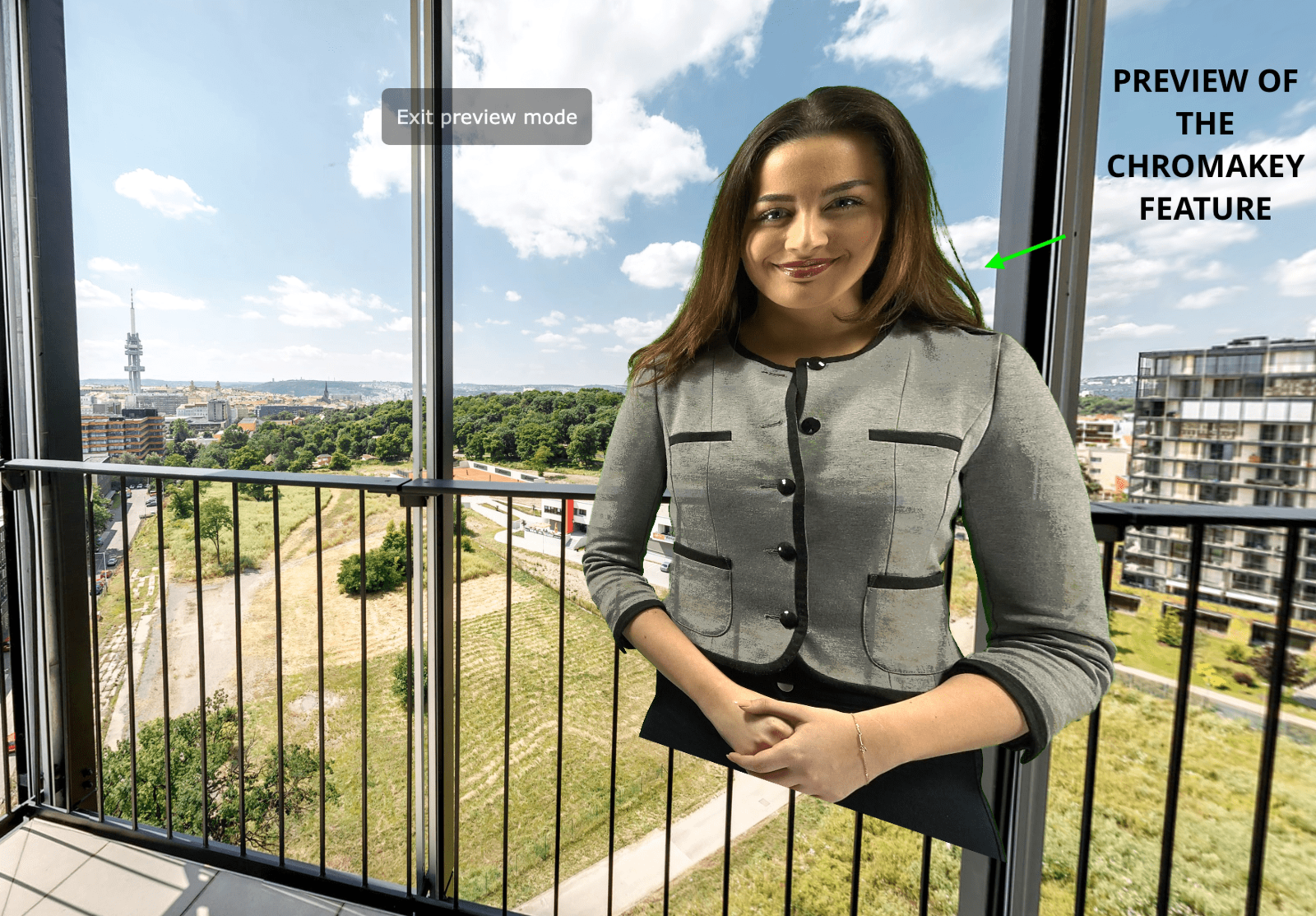 Include a Chromakey video in my virtual tour