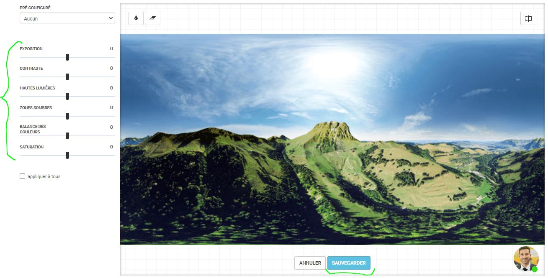 Etape 3 - Amélioration des photos 360 de la visite virtuelle