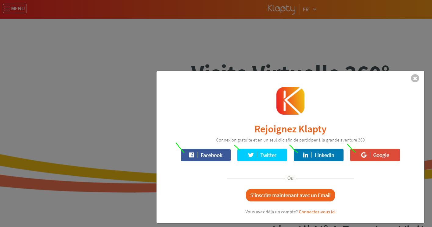 Ejemplo de creación de cuenta mediante el plugin de login social