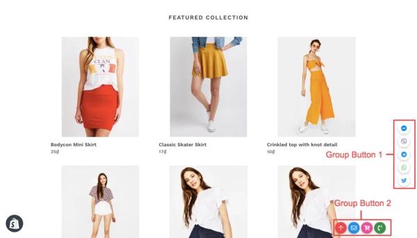 Online store display