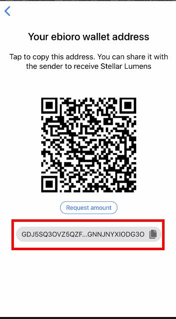 Tu dirección de la billetera