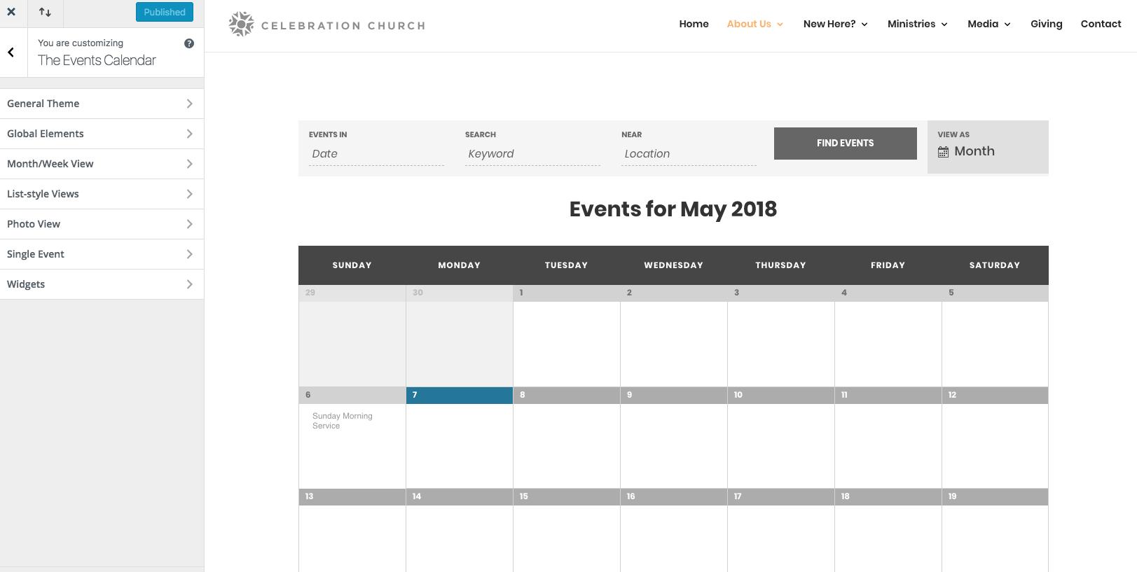 Change Calendar Colors