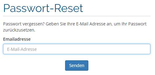 Passwort Reset