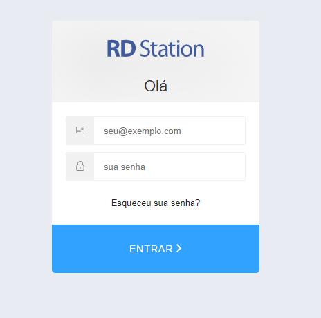 Preencha os campos com seus dados cadastrais da RD Station